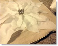 Felt Poinsettia and Fabric Pillow (Pottery Barn Knock-off) Tutorial · Felting | CraftGossip.com