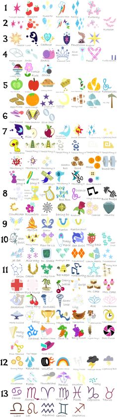Cutie Mark Compilation Guide v1.2 by Serenawyr.deviantart.com on @deviantART