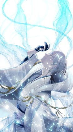 The color blue is a close color to my heart, because it always reminds me of my wife, and I so do love my wife. Touken Ranbu, Anime Kimono, Manga Anime, Anime Art, Hot Anime Guys, Anime Love, Another Anime, Manga Illustration, Manga Characters