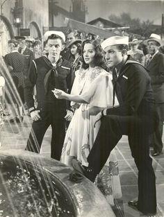 Gene Kelly, Frank Sinatra and Kathryn Grayson - Anchors Aweigh 1945.