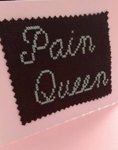 Mature greetings card, adult greetings card, pain queen, cross stitch card, bdsm card, slave card, kinky card, embroidered card by GnomeyAndMunch on Etsy