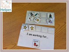 """""""I am working for..."""" Positive Reinforcement System with Visual Choice Board - I use this DAILY :)"""
