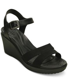 26504000dbc3 Crocs Women s Leigh II Ankle Strap Wedge Sandals   Reviews - Sandals   Flip  Flops - Shoes - Macy s