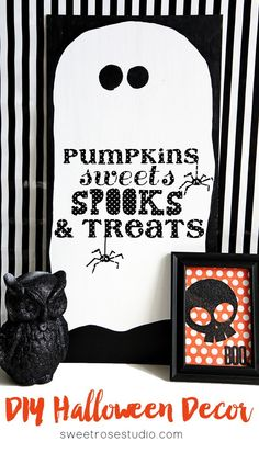 DIY Halloween Decor at Sweet Rose Studio