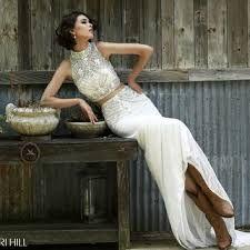 Resultado de imagen para bridal crop top and skirt