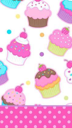 Cute Wallpapers, Wallpaper Backgrounds, Iphone Wallpapers, Cupcakes Wallpaper, Art Kawaii, Hello Kitty, Kawaii Wallpaper, Colorful Wallpaper, Cellphone Wallpaper