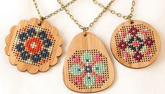 Modern cross stitch patterns and kits by Red Gate Stitchery