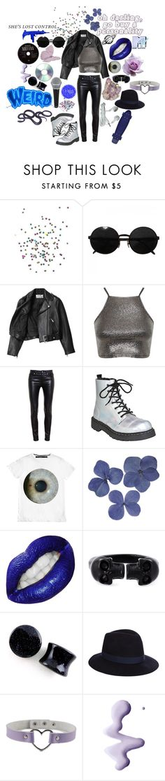 """""""Lead singer who is angsty AF and is the perfect mix between 2005 pete wentz and hayley williams"""" by causingpanicatthetheater ❤ liked on Polyvore featuring Versace, Acne Studios, Miss Selfridge, Yves Saint Laurent, Clips, Alexander McQueen, Accessorize, Topshop and ...Lost"""