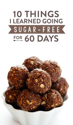 A food blogger's experience cutting out refined sugars and grains completely for 60 days. Lots of lessons learned! | gimmesomeoven.com