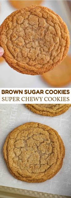 These brown sugar cookies look so yummy and perfect for any party! Definitely adding the vanilla extract to make the brown sugar for that e. Köstliche Desserts, Delicious Desserts, Dessert Recipes, Yummy Food, Tasty, Brown Sugar Cookies, Brown Sugar Bakery, Brown Sugar Cookie Recipe, Amish Sugar Cookies