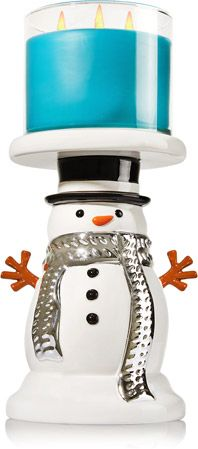 Snowman Pedestal 3-Wick Candle Holder - Home Fragrance 1037181 - Bath & Body Works