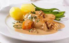 Kalkkunaa kermakastikkeessa Meat, Chicken, Food, Essen, Meals, Yemek, Eten, Cubs