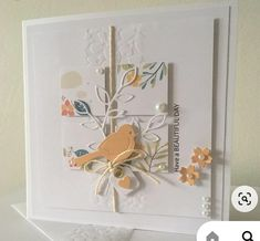 Card Making Inspiration, Making Ideas, Square Card, Bird Cards, Fall Cards, Pretty Cards, Sympathy Cards, Paper Cards, Flower Cards