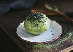 Matcha Green Tea Pudding Sphere | Dairy-Free | Dine X Design