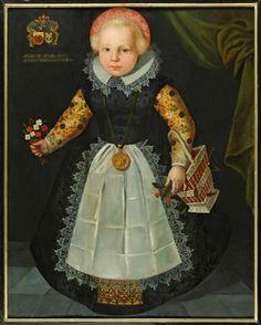 Anonymous, Portrait of Anna van Popma, 1618 Fries Museum