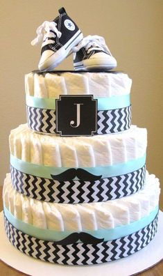 baby shower party diaper cake for boys - Babyshower Party - Bebe Cadeau Baby Shower, Baby Shower Diapers, Baby Shower Cakes, Baby Shower Parties, Baby Shower Themes, Baby Boy Shower, Baby Shower Decorations, Baby Shower Gifts, Shower Ideas