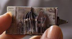 theantidote:Leonardo da Vinci miniature pop-up book by Sara Álvarez