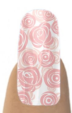 Jamberry Nail Shields, Nail Wraps - Pink Roses