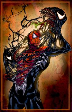 What can I say about this art by Lady Orange that I can't say about  Spider-Man 3? It shows an epic struggle, it's awesome, it doesn't involve  the hitting of pipes and church bells or Tobey Maguire dancing. Yeah,  that's about it really. I'm a big fan of Lady Orange's work, and you will  be too when you check her out!