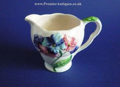 Carlton Ware Pink and Blue Hydrangea creamer Susie Cooper, Carlton Ware, Blue Hydrangea, High Class, Vintage China, Wedgwood, Teapots, Cup And Saucer, Cups