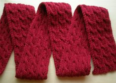 This is a reversable cable scarf. Great pattern for your first cable project. Easy and Free pattern