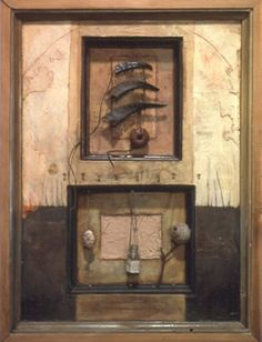 Early Works: Sculptures and Reliquaries – Fernworks Found Object Art, Found Art, Vanitas, Shadow Box Art, Byzantine Art, Unusual Art, Assemblage Art, Vintage Artwork, Collage Art