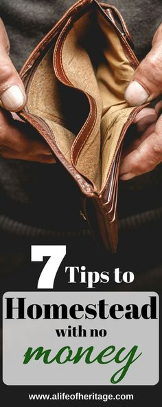 7 tips to homesteading with no money. You can set out with this 7 step plan and each year get closer to your homesteading dreams. Just don't give up.#homesteading