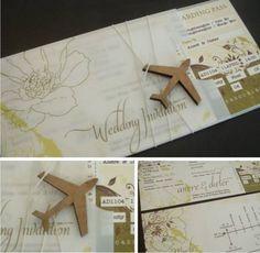 Travel airline ticket wedding invitation-amazing!