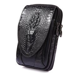 18.55$  Watch here - Natural Genuine Leather Crocodile Pattern Style Men Waist Bag Cell/Mobile Phone Cigarette Case Hip Bum Belt Money Bags Purse  #aliexpress