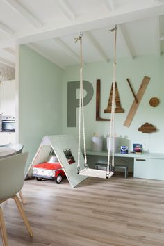 Inspirational suggestions that we are fond of! Toddler Rooms, Baby Boy Rooms, Play Corner, Playroom Furniture, Playroom Decor, Playroom Ideas, Nursery Decor, Wall Decor, Baby Room Design