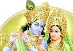 Krishna Radha ~ The Divine Couple <3