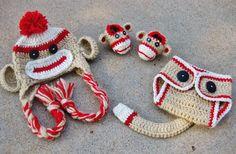 Crochet Sock Monkey Set