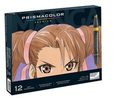 Amazon.com: Prismacolor Premier Double-Ended Art Markers, Fine and Chisel Tip, Manga Colors, 12-Count: Office Products