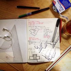 The Proper Ingredients For Night Sketching. #architecture #design  #modernism #sketch #