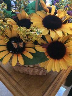 Sunflower Wall Basket by LLFCByLaura on Etsy