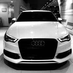 #Caroftheday #Audi #A3 #Berline #Blackandwhite #SawaCenter Waterloo Belgium, Audi Cars, Bmw, Vehicles, Instagram Posts, Car, Vehicle, Tools