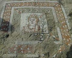 Calabria. Casignana (RC) Particolare dei mosaici di Villa Romana