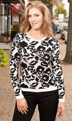 Alice + Olivia Wade Wool Rhinestone Sweater