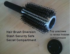 This unique Hair Brush Stash Safe ($17.99) allows you to hide lots of money inside this common household product!
