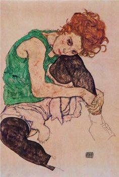 Donna Seduta - Egon Schiele