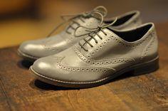Cole Haan Concept Store - Soho.    flat matte grey brogue...