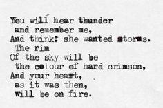 """""""You Will Hear Thunder"""" by Anna Akhmatova"""