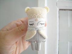 Handmade Doll - Polar Bear Doll/Brooch/Necklace