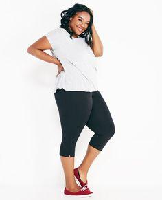 4de2cb729cfd5 Plus Size Solid Capri Yoga Pants Wet Seal Plus Plus Size Yoga Pants Yoga  Pants With