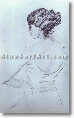 Portrait of Ballet-Dancer T. Karsavina - £124.99 : Canvas Art, Oil Painting Reproduction, Art Commission, Pop Art, Canvas Painting