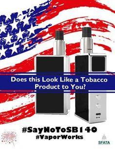 California vapers! Today is a great day to call your CA State Assembly Rep and let them know that you oppose SB 140 because vapor products are NOT tobacco products.  Find your rep's office number or email here -- http://findyourrep.legislature.ca.gov/