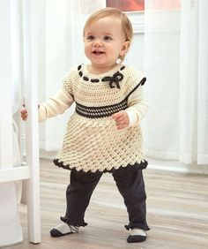Baby's Special Tunic - easy (sizes 6 months through 24 months - free pdf instructions)