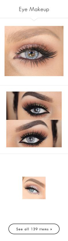 """Eye Makeup"" by pinkowlgirl12 on Polyvore featuring beauty products, makeup, eye makeup, eyeshadow, eyes, beauty, make, palette eyeshadow, eyeliner and nail care"