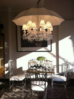 Does your ceiling leak?  Maybe this is the answer -- fancy light fixture by Phillipe Starck