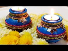 find thousands of handmade, old, as well as one associated with a level items and gifts. Diwali Decoration Lights, Thali Decoration Ideas, Festival Decorations, Flower Decorations, Wedding Decorations, House Decorations, Diwali Craft For Children, Pottery Painting Designs, Pottery Designs